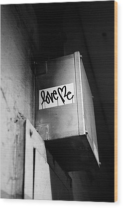 Love Me Wood Print by Dean Harte