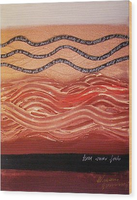 Wood Print featuring the painting Love Never Fails by Winsome Gunning