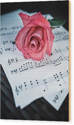 Love Notes Wood Print