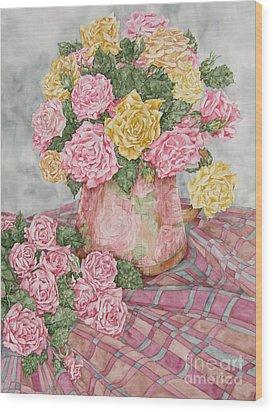 Love Of Roses Wood Print