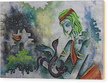 Love Of Shiva Wood Print by Rohan Sandhir