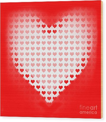 Love Of Valentines Background. Big Red Heart Wood Print by Jorgo Photography - Wall Art Gallery