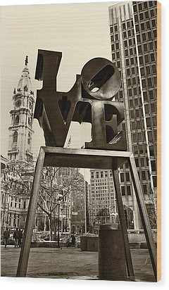 Love Philadelphia Wood Print by Jack Paolini