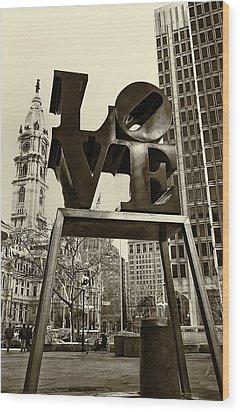 Love Philadelphia Wood Print by Jack Paolini