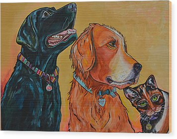 Love Rescue Spay Wood Print by Patti Schermerhorn