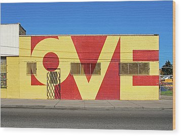 Love Store Front Wood Print by David Kyte