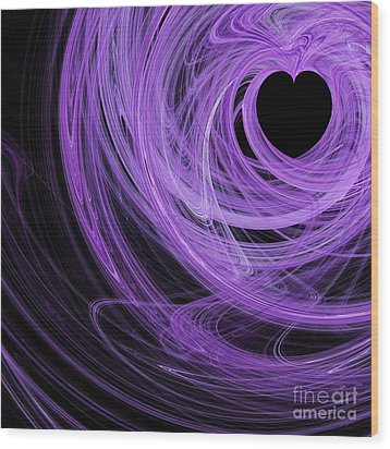 Love Swirls . Square . A120423.689 Wood Print by Wingsdomain Art and Photography