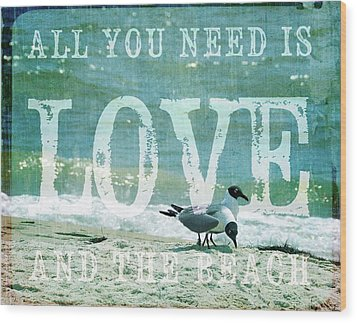 Wood Print featuring the photograph Love The Beach by Jan Amiss Photography