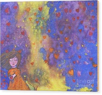 Love Will Find You Wood Print by AnaLisa Rutstein
