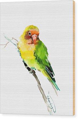 Lovebird Wood Print by Suren Nersisyan