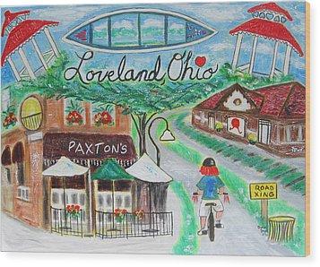 Loveland Ohio Wood Print by Diane Pape