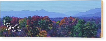 Lovely Asheville Fall Mountains Wood Print by Ray Mapp