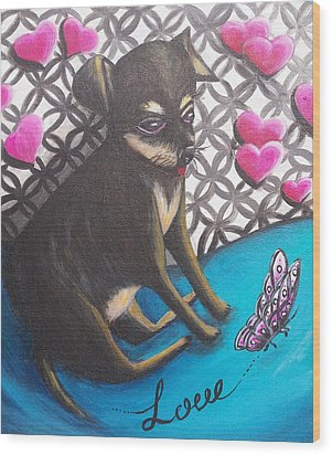 Lovely Chihuahua Puppy  Wood Print by Beryllium Canvas