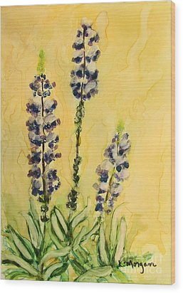 Lovely Lupines Wood Print
