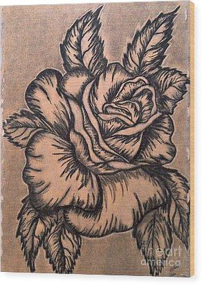 Lovely Rose Wood Print