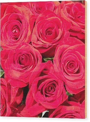 Lovely Roses Wood Print by Alohi Fujimoto