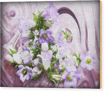 Lovely Spring Flowers Wood Print by Gabriella Weninger - David