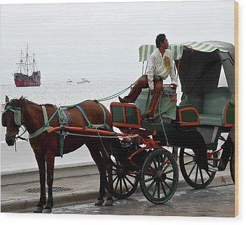 Lovely Transportation In Cozumel Wood Print