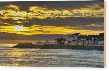Lover's Point Sunrise Wood Print
