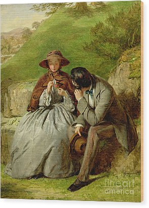 Lovers Wood Print by William Powell Frith
