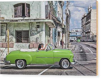 Lovin' Lime Green Chevy Wood Print