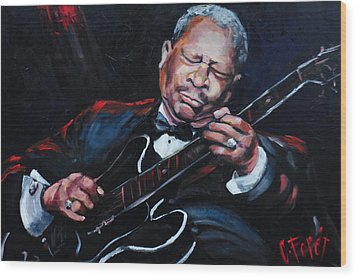 Lovin Lucille B B King Wood Print
