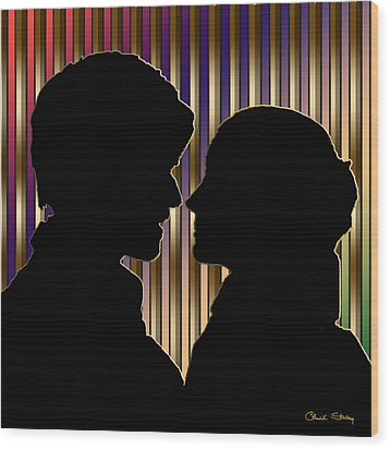Wood Print featuring the digital art Loving Couple - Chuck Staley by Chuck Staley