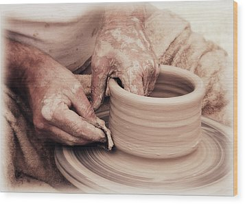 Wood Print featuring the photograph Loving Hands Creation by Emanuel Tanjala