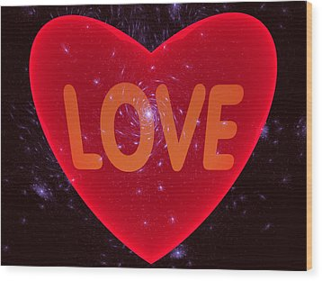 Loving Heart Wood Print by Ernst Dittmar