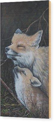 Loving Mom Wood Print by Theresa Jefferson