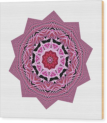 Loving Rose Mandala By Kaye Menner Wood Print