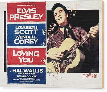 Loving You, Elvis Presley, 1957 Wood Print by Everett
