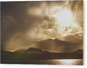Low Clouds On The Colorado Rocky Mountain Foothills Wood Print by James BO  Insogna