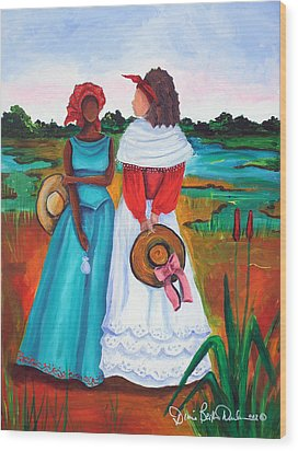 Low Country Ladies Wood Print by Diane Britton Dunham