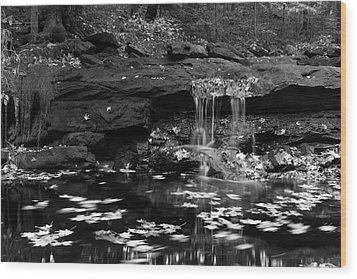 Low Falls Wood Print by Jeff Severson