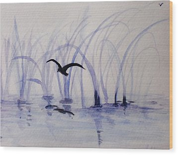 Low Flight Wood Print by Trilby Cole