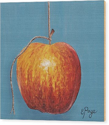 Low Hanging Apple Wood Print by Emily Page