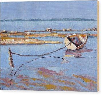 Low Tide Flats II Wood Print
