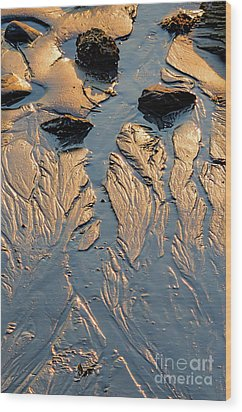 Low Tide Flow, Kettle Cove, Cape Elizabeth, Maine  -66557 Wood Print