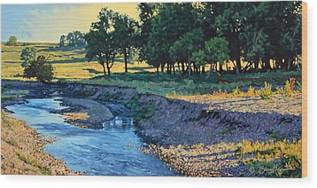 Low Water Morning Wood Print by Bruce Morrison