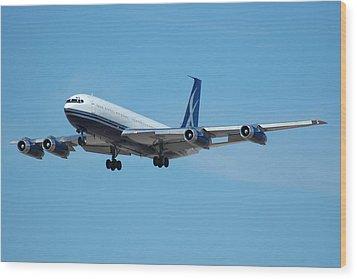 Lowa Limited Boeing 707 N88zl Wood Print by Brian Lockett