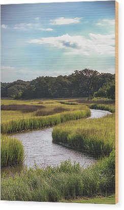 Lowcountry Creek Wood Print by Drew Castelhano