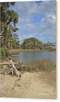 Lowcountry Lagoon Wood Print by Louise Heusinkveld