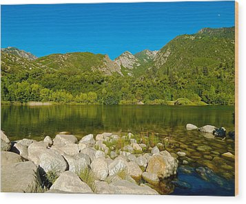 Lower Bells Canyon Reservoir Wood Print by Dan Miller