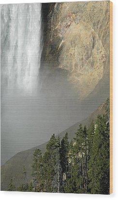 Lower Falls Closeup Wood Print