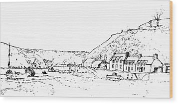 Lower Fishguard Wood Print by Frank Hamilton