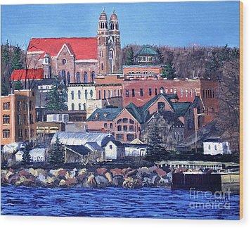 Lower Harbor-marquette Michigan Wood Print