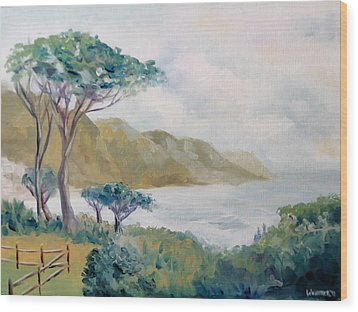 Lower Kloof Road Cape Town South Africa Oil Painting Wood Print by Mark Webster