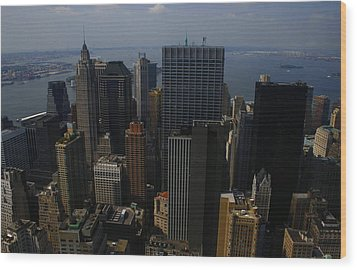 Lower Manhattan Wood Print by Christopher Kirby