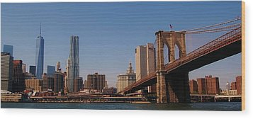 Lower Manhattan Nyc Wood Print